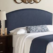 blue upholstered headboard. Exellent Blue Humble  Haute Parker Navy Blue Curved Upholstered Headboard In S