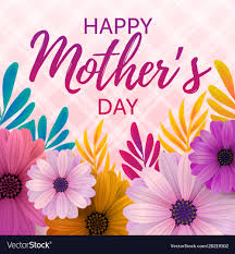 Happy Mothers Day Card Royalty Free Vector Image