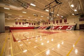 high school gym. Now, The Gymnasium Is A Safe, High-performance Venue That Serves As Source Of Pride For Its Community. High School Gym