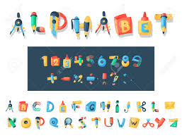 Letters Stationery Alphabet Stationery Letters Vector Abc Font Alphabetic Icons