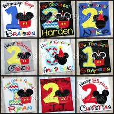 Monag Shirts Size Chart Details About Mickey Minnie Mouse Birthday Shirt Happy Party 1st First 2nd 1 2 3 Boy Girl Cake