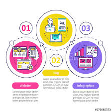 Channels For Seo Vector Infographic Template Website