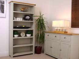 Tall Living Room Cabinets Painted Oak Tall Bookcase Solid Sage Grey Cabinet New Book Shelf