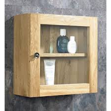 oak bathroom wall storage cabinets. Solid Oak Single Glass Wall Cabinet Bathroom Storage Cabinets