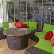 lime green patio furniture. Poolside Brown Wicker Patio Furniture With Vibrant Green Cushions Lime