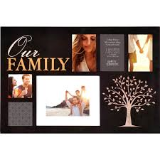 gallery solutions 24 x 16 family 6 opening collage frame