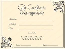 Salon Application Template Printable Gift Certificates Templates 31 Free Gift Certificate
