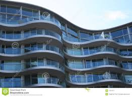 Curved Apartment Building Stock Image Image Of Modern 1791417
