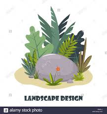 Landscape Design App Landscape Design Composition With Plant And Stones Cute