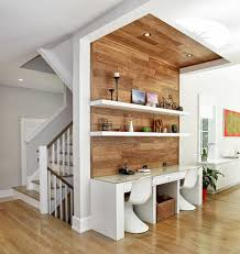 home office shared desk idea modern. Good Looking Recessed Lights Look New York Contemporary Home Office Remodeling Ideas With Floating Shelves Open Lighting Shared Desk Idea Modern C