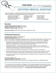 Professional Medical Resume Extraordinary Professional Resume For Medical Assistant Generalresumeorg