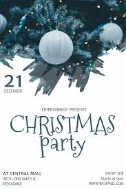 Free Christmas Party Flyer Template Postermywall