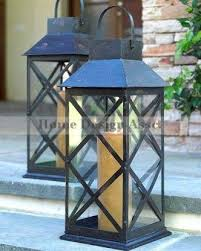 outdoor candles lanterns and lighting. Architecture And Home: Sophisticated Outdoor Candles Lanterns On Candle Lantern Nickel With Teak Handle From Lighting O