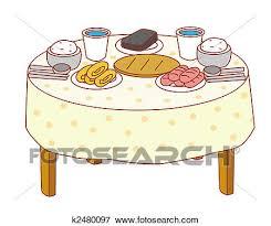dinner table clipart.  Clipart A Dinner Table With A Lot Of Food On It With Dinner Table Clipart
