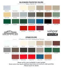 Kynar Metal Roof Color Chart