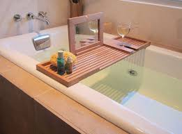 designs wondrous bath tray caddy wood 64 the pacifica bathtub tray bathtub tray caddy canada