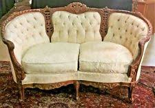 french provincial sofa. Plain Provincial Vtg French Provincial Ornately Carved Small Settee Sofa Couch Los Angeles  Area Throughout