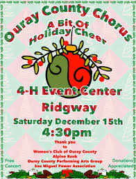 Christmas Concert Poster Occ Christmas Poster 2018 Ouray County Performing Arts Guild