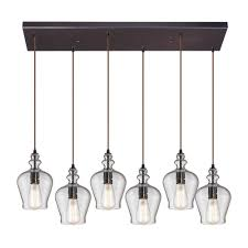 titan lighting wycombe collection 6 light oil rubbed bronze mini pendant