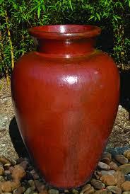 Decorative Garden Urns Tall Vietnamese Highneck Glazed Ceramic Vase Beautiful Handmade 58