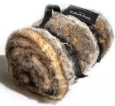 Tahari Faux Fur Throw Blanket