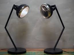 these awesome table lamps are made from recycled car and motorbike parts hot ers nz certified