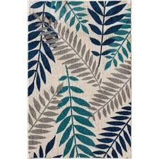 patio brights blythewood sapphire 8 ft x 10 ft indoor outdoor area rug