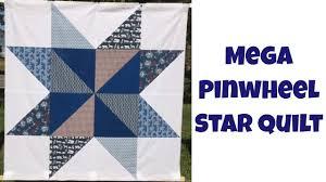 Mega Pinwheel Star Free Quilt Pattern and Beginner Quilting ... & Mega Pinwheel Star Free Quilt Pattern and Beginner Quilting Tutorial with  Leah Day Adamdwight.com