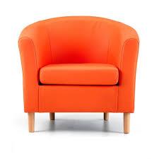 nicole orange faux leather tub chair nicole orange faux leather tub chair