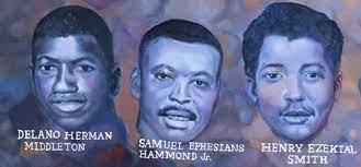 Delano Herman Middleton, Samuel Ephesians Hammond, Jr., and Henry Ezekial  Smith - Cloud of Witnesses - Jim Crow Museum - Ferris State University