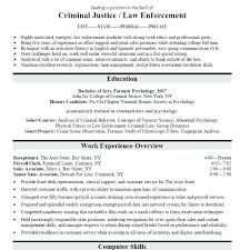 Criminal Justice Resume Criminal Justice Resume Awesome Additional