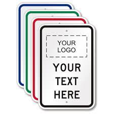 Custom Vertical Logo Sign Template Sku K 3590