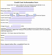 6 hotel credit card authorization form authorization letter generic credit card authorization forms