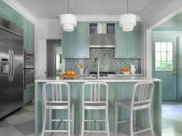 small kitchen paint colorsPale Aqua Blue And White Are Popular Paint Color For Kitchen