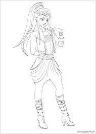 Descendants 2 Coloring Pages For Free Download Jokingartcom