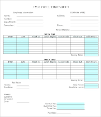Sample Biweekly Timesheet Delectable Free Bi Weekly Timesheet Template Excel Semi Monthly Landscape