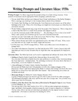 8th Grade Essay Prompts Writing Prompts And Literature Ideas 1930s Teachervision