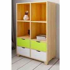 office shelving unit. New Retro Bookcase Storage Shelving Unit 4 Drawer Home Office Study Furniture A
