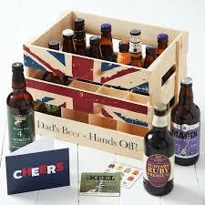 Dad's Wooden Crate Of Beer