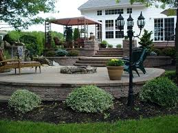 backyard patio pictures raised with waterfall design ideas41 backyard