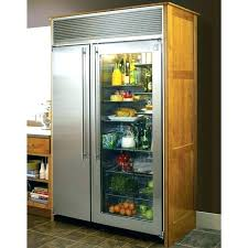 glass front refrigerator for home within door fridge decorations 8 frosted decor