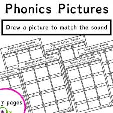 Four differentiated levels of activity for every sound Draw A Phonics Sound Picture Age 4 Readwithphonics Learn To Read With Phonics