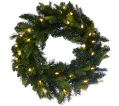 bethlehem lights 24 mixed green prelit holiday wreath page