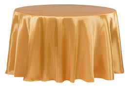 satin 120 round tablecloth gold antique