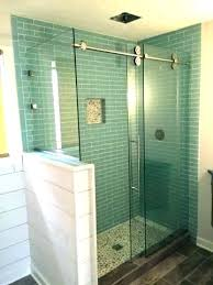 alternative shower wall materials shower with half wall pony wall shower glass glass wall mounted shower