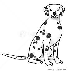 犬 お座り 座る 大型犬のイラスト素材 Pixta