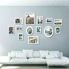 wall picture frames set stock collage natural white wooden multi picture photo frame wall set in wall picture frames set