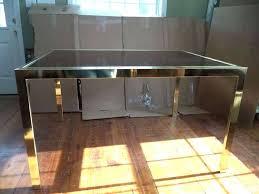 smoked glass dining table frosted