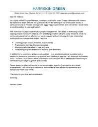 Sample Business Owner Cover Letter 8 Program Manager Writing A