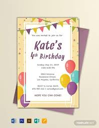 Party Invitation Template Word Free Free Email Birthday Invitation Template Word Psd